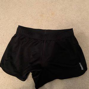 Black Reebok gym shorts